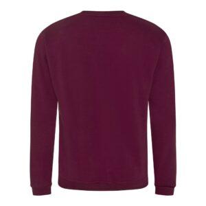 burgundy sweatshirt back