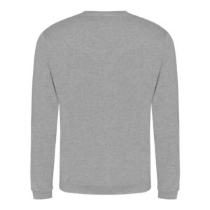 heather grey sweatshirt back