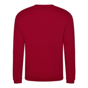 red sweatshirt back