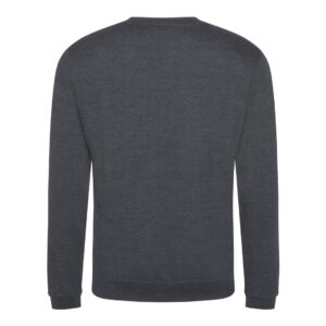solid grey sweatshirt back