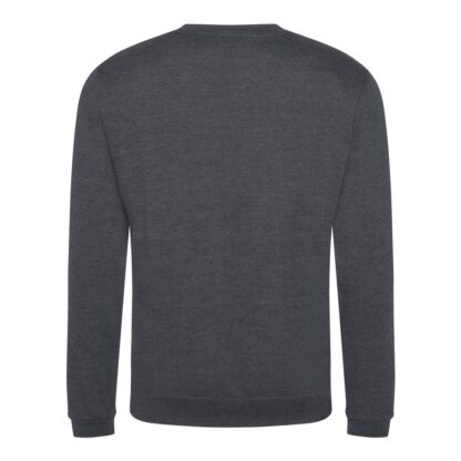 solid grey sweatshirt back