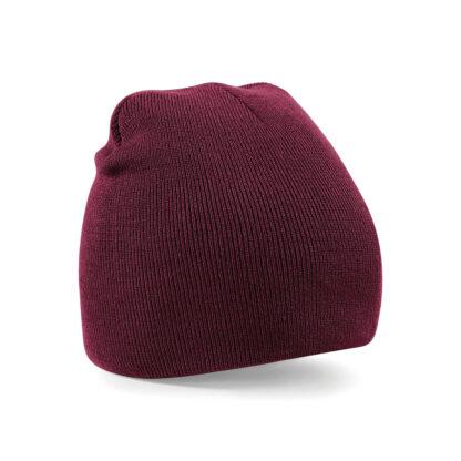 burgundy beanie