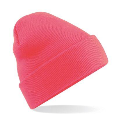 Cuffed Beanie fluorescent pink