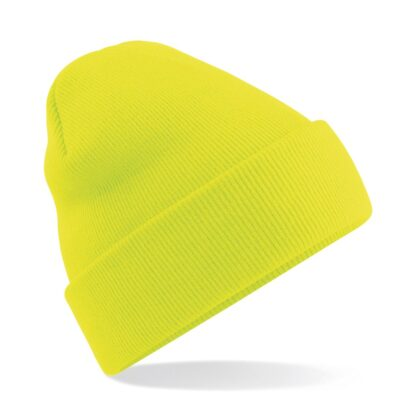 Cuffed Beanie fluorescent yellow