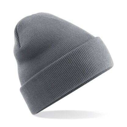 Cuffed Beanie graphite grey