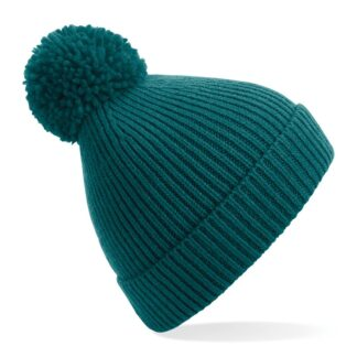 ribbed knit beanie ocean green