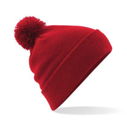 Pom Pom Beanie classic red