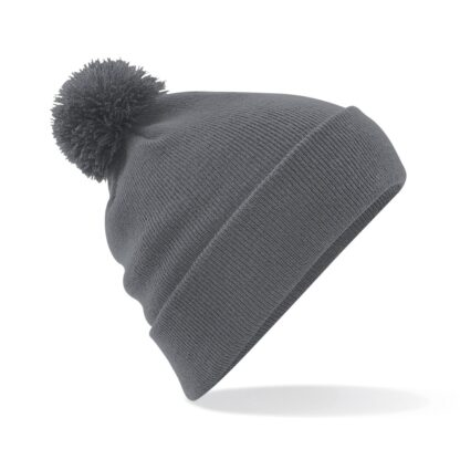 Pom Pom Beanie graphite grey