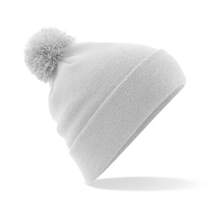 Pom Pom Beanie light grey
