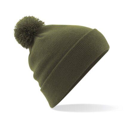 Pom Pom Beanie moss green