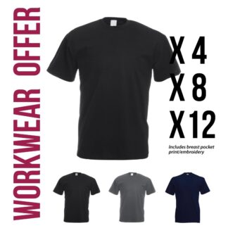 workwear tshirt pack offer