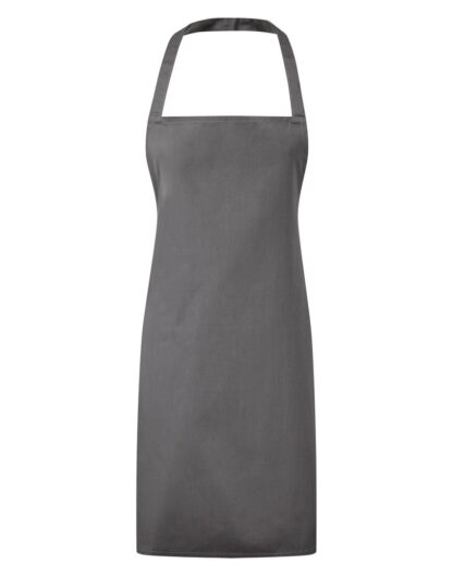 3 pocket bib apron dark grey