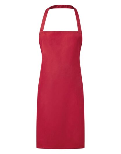 3 pocket bib apron red