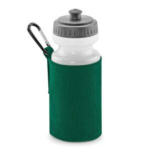 bottle green water bottle and holder