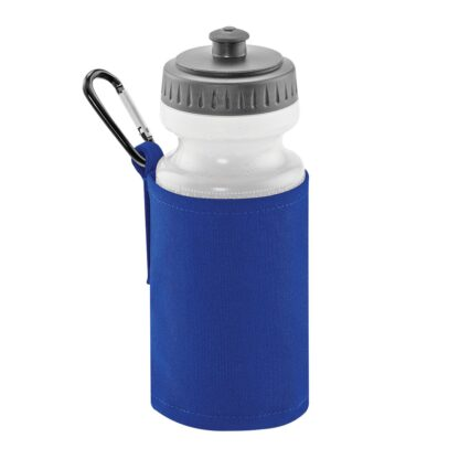 royal blue water bottle and holder