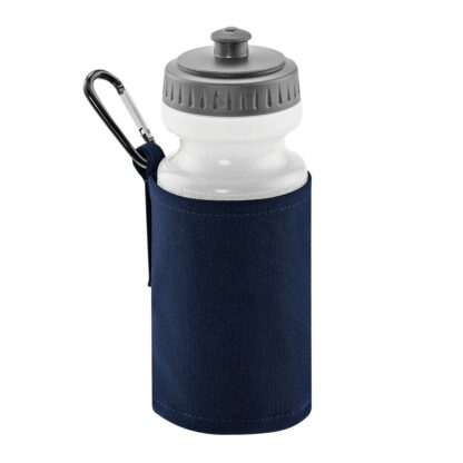 navy water bottle and holder