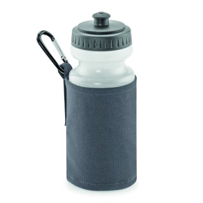 graphite grey water bottle and holder