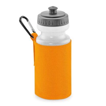 orange water bottle and holder