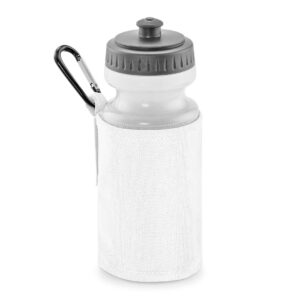 white water bottle and holder