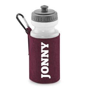 water bottle with holder personalised