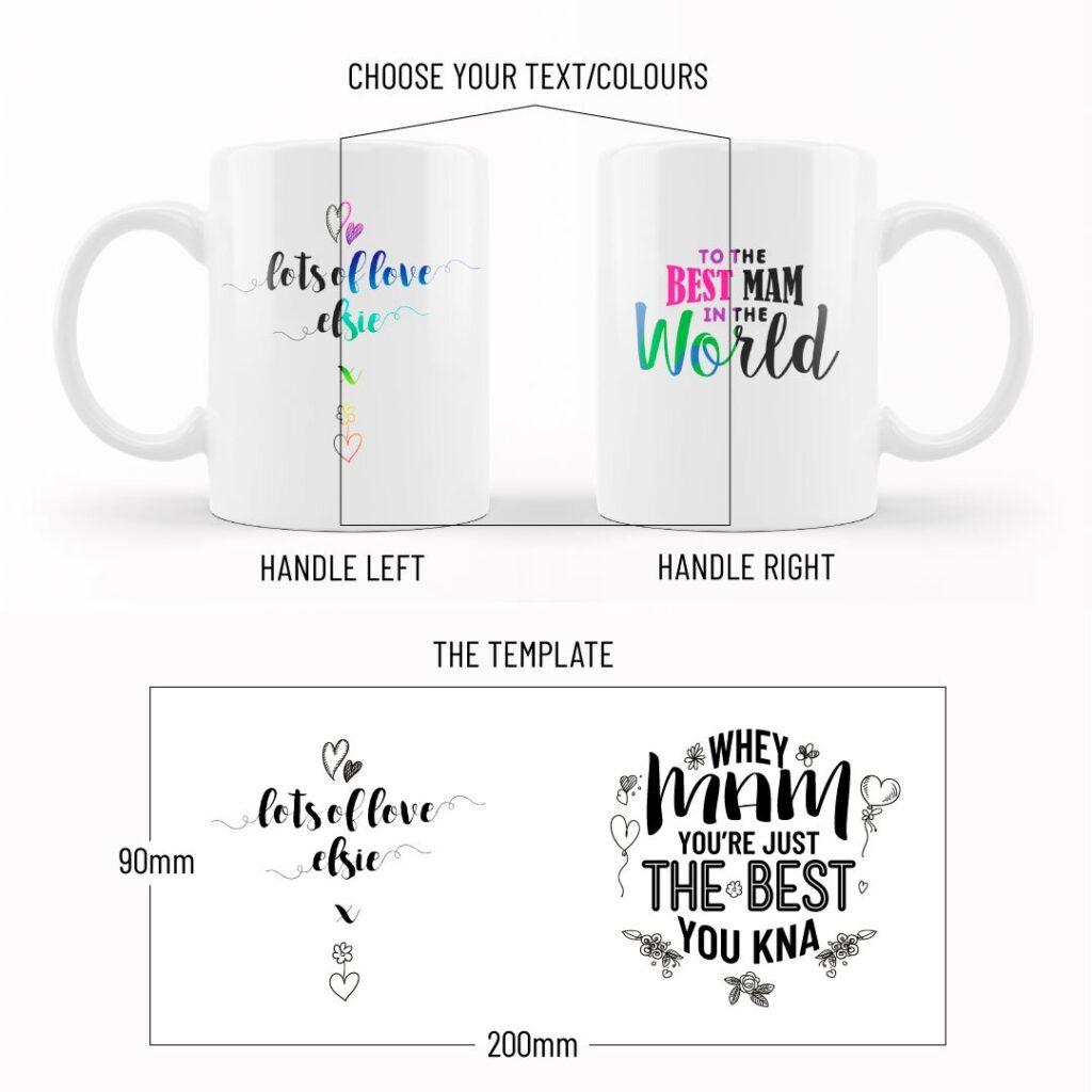 mug proof and template