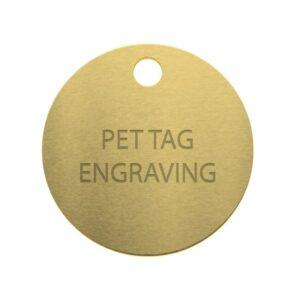 pet tag engraving