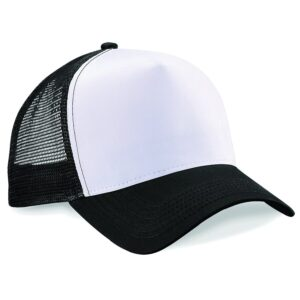 snapback trucker cap black and white