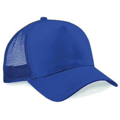 snapback trucker cap royal blue