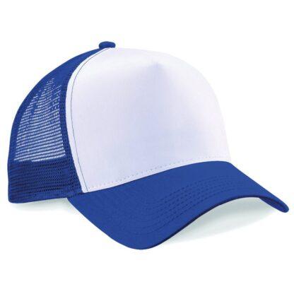 snapback trucker cap royal white
