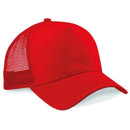 snapback trucker cap red