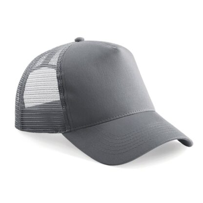 snapback trucker cap graphite grey