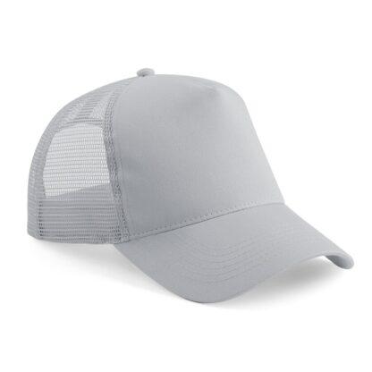 snapback trucker cap light grey