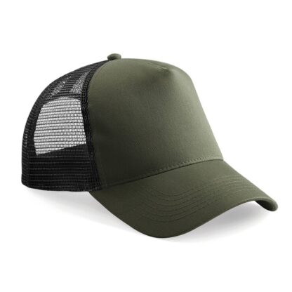 snapback trucker cap olive black