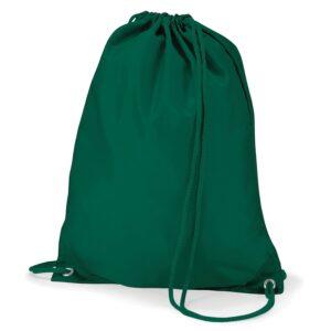 Polyester Gymsac bottle green