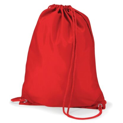 Polyester Gymsac red