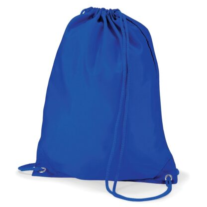 Polyester Gymsac royal blue