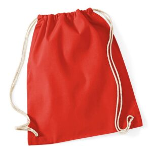 Cotton Gymsac bright red