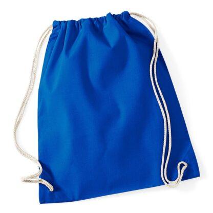 Cotton Gymsac royal blue