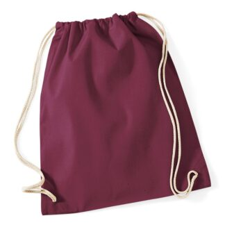 Cotton Gymsac burgundy