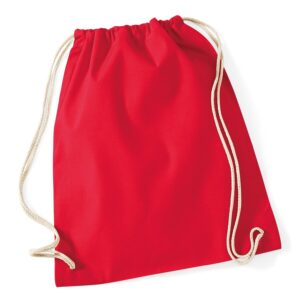 Cotton Gymsac red