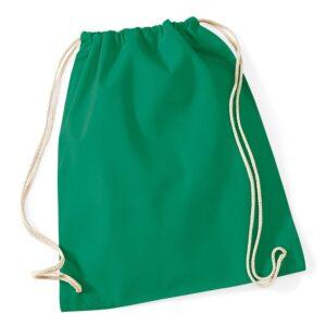 Cotton Gymsac kelly green