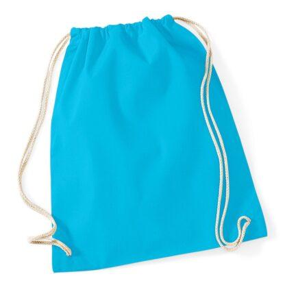 Cotton Gymsac surf blue