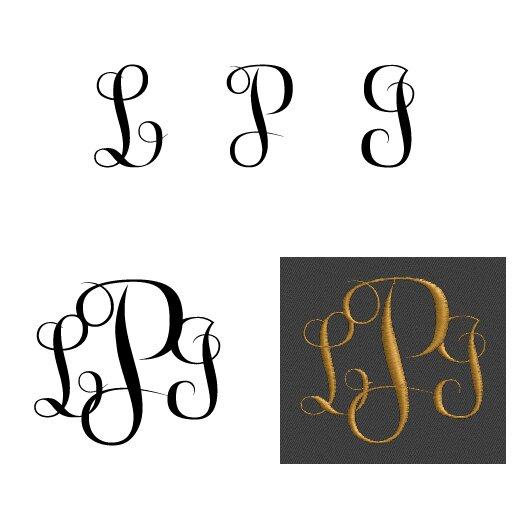 married monogram layout