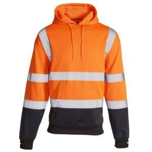 hi vis two tone hoody orange