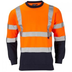 hi vis sweatshirt two tone orange blue