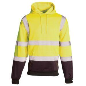 hi vis two tone hoody yellow