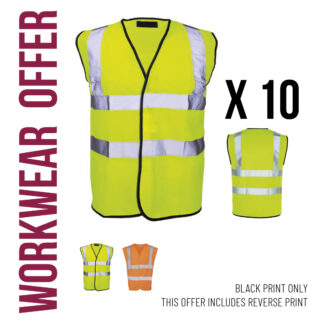 workwear hi vis vest pack offer